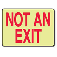 NOT AN EXIT GLOW