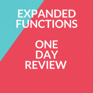 Expanded FunctionsOne Day Review